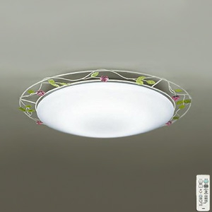 DAIKO LEDシーリングライト ~8畳用 ハンドメイド品 プルレス調色・調光タイプ(昼光色~電球色) 45W タイマー付リモコン付属 アイボリーアンティーク色 DCL-39270
