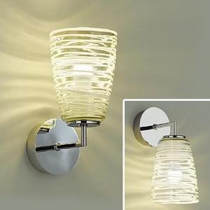 DAIKO LEDブラケットライト 電球色 非調光タイプ 白熱灯60Wタイプ E17口金 壁面上・下向付兼用 ガラス製セード模様入 DBK-39301Y