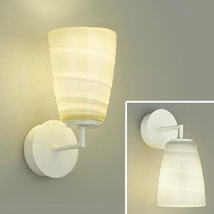 DAIKO LEDブラケットライト 電球色 非調光タイプ 白熱灯60Wタイプ E17口金 壁面上・下向付兼用 ガラス製セード模様入 DBK-39302Y
