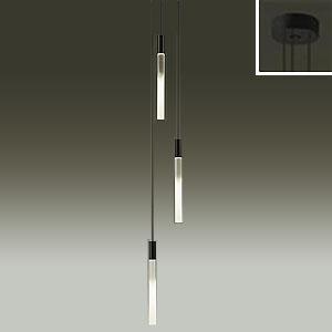 DAIKO LEDシャンデリア 吹抜け・傾斜天井用 白熱灯60W×3灯タイプ 電球色 非調光タイプ 吊高さ調節可能 φ3.8細コード使用 ブラック DCH-39492Y