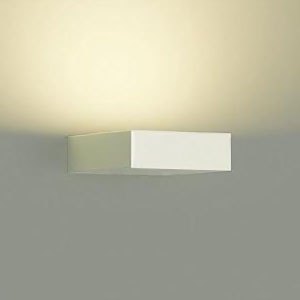 DAIKO LEDブラケット 密閉型 白熱灯60Wタイプ 電球色 調光タイプ 上向付・下向付兼用 カバーバネ式 拡散パネル付 ホワイト DBK-39521Y