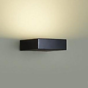DAIKO LEDブラケット 密閉型 白熱灯60Wタイプ 電球色 調光タイプ 上向付・下向付兼用 カバーバネ式 拡散パネル付 ブラック DBK-39522Y