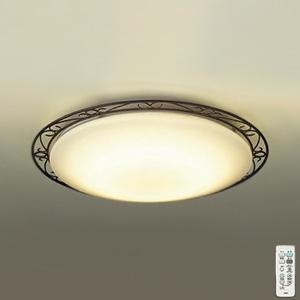 DAIKO LEDシーリングライト ~8畳用 ハンドメイド品 プルレス調色・調光タイプ(昼光色~電球色) 45W タイマー付リモコン付属 ブラックアンティーク色 DCL-39702
