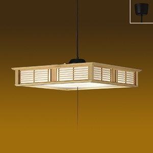 DAIKO LED和風ペンダントライト ~12畳 電球色 非調光タイプ LED内蔵67W プル・プルレス兼用 引掛シーリング取付式 DPN-39772Y