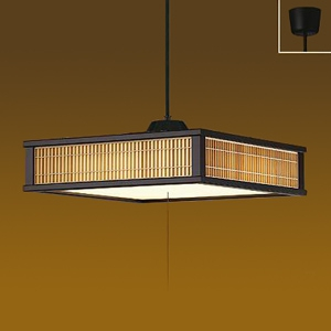 DAIKO LED和風ペンダントライト ~12畳 電球色 非調光タイプ LED内蔵67W プル・プルレス兼用 引掛シーリング取付式 DPN-39872Y