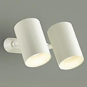 DAIKO LEDスポットライト フランジタイプ 白熱灯100W×2灯タイプ 電球色 非調光タイプ 天井付・壁付兼用 ホワイト DSL-4709YW