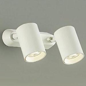 DAIKO LEDスポットライト フランジタイプ 12Vダイクロハロゲン50W×2灯タイプ 電球色 非調光タイプ 天井付・壁付兼用 ホワイト DSL-4782YW