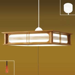 タキズミ LEDペンダントライト ~8畳用 和風タイプ 単色調光 昼光色 リモコン付 樹脂枠(木調茶色) RVNR80038