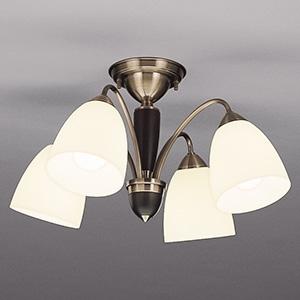 山田照明 LEDランプ交換型シャンデリア ~8畳用 非調光 LED電球7.8W×4 電球色 E26口金 ランプ付 CD-4299-L
