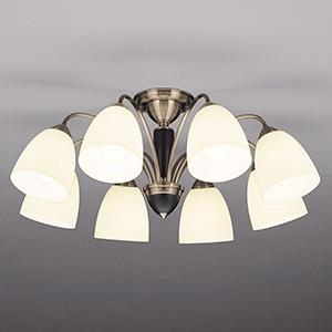 山田照明 LEDランプ交換型シャンデリア ~14畳用 非調光 LED電球7.8W×8 電球色 E26口金 ランプ付 CD-4301-L