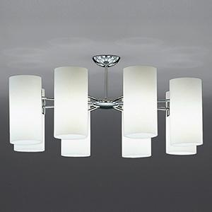山田照明 LEDランプ交換型シャンデリア ~6畳用 白熱320W相当 非調光 LED電球5.2W×8 電球色 E17口金 ランプ付 CD-4323-L