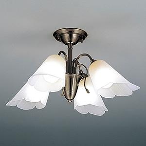 山田照明 LEDランプ交換型シャンデリア ~6畳用 非調光 LED電球7.8W×4 電球色 E26口金 ランプ付 CD-4327-L