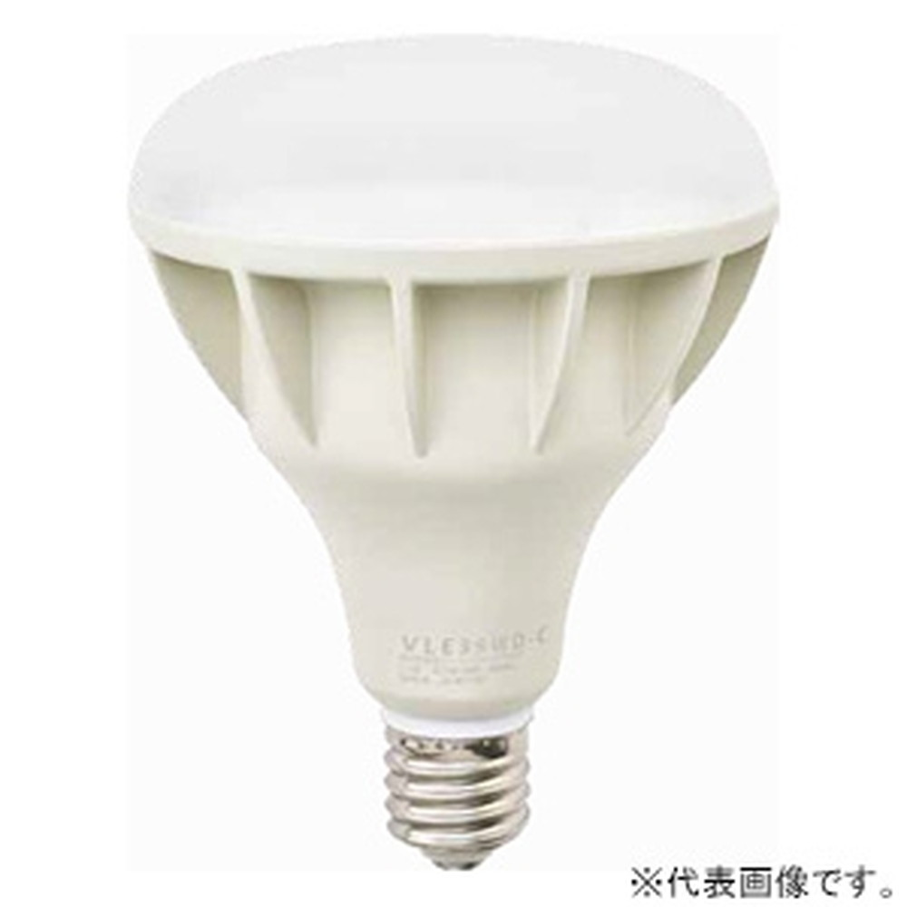 ニッケンハードウエア LED電球 《ViewLamp》 バラストレス水銀ランプ300W形 横型看板用 広角120° 昼光色 E39口金 アイボリー VLE39WD-C