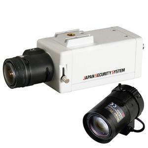 日本防犯システム 屋内用ボックスカメラレンズセット EX-SDI対応2.2メガピクセル 8~50mmレンズ JS-CH2012セット3