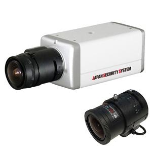 日本防犯システム 屋内用ボックスカメラレンズセット AHD対応1.3メガピクセル 2.8~12mmレンズ PF-AHD1131Sセット2