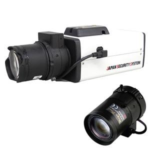 日本防犯システム 屋内用BOX型ワンケーブルカメラレンズセット AHD2.0対応 8~50mmレンズ PF-AHD2112セット3