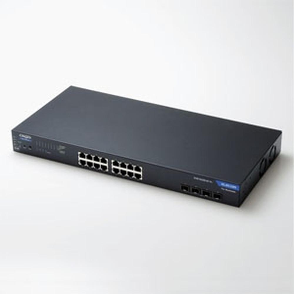 生産完了品 ELECOM ギガビットスイッチングハブ 新作通販 1000BASE-T対応 法人向け WEBスマート メタル筐体 POE対応16ポート+SFPスロット4ポート EHB-SG2B16F-PL ループ防止機能搭載 POE+対応 人気商品
