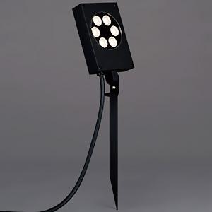 山田照明 LED一体型薄型スポットライト 防雨型 スパイク式 非調光 ダイクロハロゲン50W相当 電球色 配光角度37° キャブタイヤケーブル5.0mプラグ付 AD-2653-L