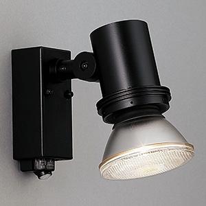 山田照明 LEDランプ交換型スポットライト ランプ別売 人感センサー付 防雨型 ビーム球150W相当 E26口金 黒 AN-2961