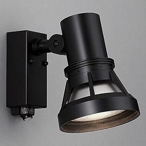 山田照明 LEDランプ交換型スポットライト ランプ別売 人感センサー付 防雨型 ビーム球150W相当 E26口金 黒 AN-2963