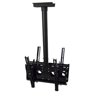 スタープラチナ TVセッターハング M/Lサイズ 両面吊りタイプ W508×H1000~1500mm 角度調節機能付 スチール製 TVSHGHL202MB