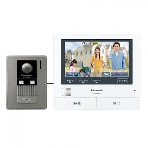 パナソニック テレビドアホン モニター親機+広角カメラ玄関子機 大画面約7型ワイド液晶 スマートフォン連動タイプ SDカード対応 録画機能付 VL-SVD701KL