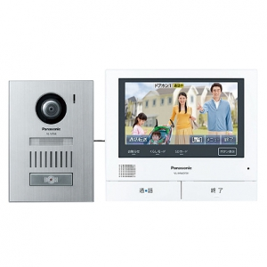 パナソニック テレビドアホン モニター親機+広角カメラ玄関子機 スマートフォン連動タイプ SDカード対応 録画機能付 VL-SVD701KS