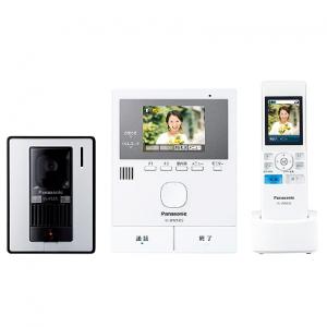 パナソニック ワイヤレスモニター付テレビドアホン 《家じゅう どこでもドアホン》 モニター親機+カメラ玄関子機+ワイヤレスモニター子機 SDカード対応 録画機能付 VL-SWD302KL
