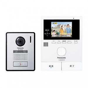 パナソニック テレビドアホン モニター親機+広角カメラ玄関子機 SDカード対応 録画機能付 VL-SVD303KL