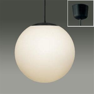 コイズミ照明 真球LEDペンダントライト LEDランプ交換可能型 白熱球60W相当 電球色 定格光束445lm 口金E26 ブラック XPE610449