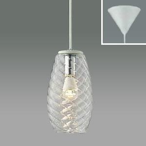 コイズミ照明 LEDガラスペンダントライト LEDランプ交換可能型 フランジタイプ 白熱球60W相当 電球色 5.4W 口金E17 透明 AP38163L