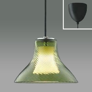 コイズミ照明 LED一体型二重セードガラスペンダントライト 《フレア》 フランジタイプ 白熱球60W相当 調光タイプ 電球色 8.5W グリーン AP38943L