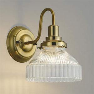 コイズミ照明 LEDブラケットライト LEDランプ交換可能型 白熱球40W相当 電球色 5.8W 口金E17 しんちゅう古美・クリア AB40107L
