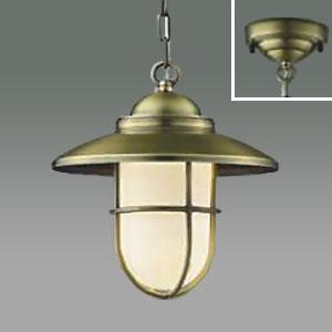 コイズミ照明 LEDペンダントライト LEDランプ交換可能型 フランジタイプ 白熱球40W相当 電球色 5.8W 口金E17 金古美色メッキ AP40600L