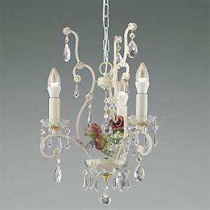 コイズミ照明 LEDシャンデリア 《ロザーチェ》 LEDランプ交換可能型 白熱球40W×3灯相当 電球色 5.0W×3灯 口金E17 AP40901L