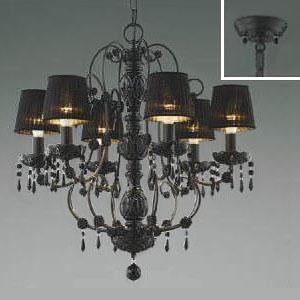 コイズミ照明 LEDシャンデリア 《クアドネーロ》 LEDランプ交換可能型 白熱球40W×6灯相当 電球色 5.0W×6灯 口金E17 AA40909L