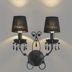 コイズミ照明 LEDブラケットライト 《クアドネーロ》 LEDランプ交換可能型 白熱球40W×2灯相当 電球色 5.0W×2灯 口金E17 AB40910L