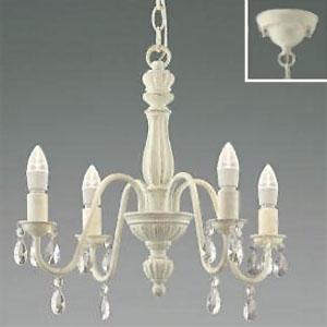 コイズミ照明 LEDシャンデリア 《シャビリア》 LEDランプ交換可能型 白熱球40W×4灯相当 電球色 4.0W×4灯 口金E17 AA42138L