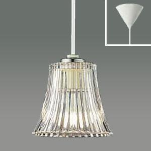 コイズミ照明 クリアガラスLEDペンダントライト LEDランプ交換可能型 フランジタイプ 白熱球60W相当 電球色 5.8W 口金E17 AP42186L