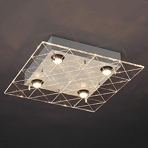 山田照明 LEDランプ交換型シーリングライト 非調光 ダイクロハロゲン60W×4相当 電球色 E11口金 ランプ付 LD-2983-L