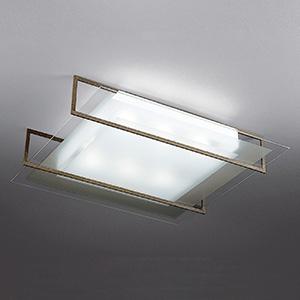 山田照明 LEDランプ交換型シーリングライト ~8畳用 ボルト固定型 非調光 LED電球7.8W×6 電球色 E26口金 ランプ付 ラスティー LD-2988-L