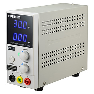 カスタム 直流安定化電源 スイッチングレギュレーション方式 デジタル表示 出力電圧範囲0~30V 出力電流範囲0~3A DPS-3003