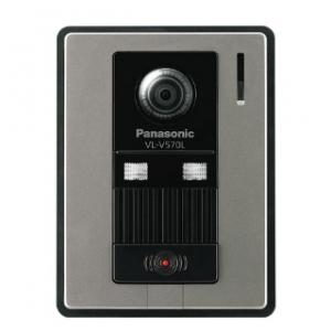 パナソニック カラーカメラ玄関子機 露出型 1個用スイッチボックス(カバー付)適合 広角レンズ付 シルバー VL-V570L-S