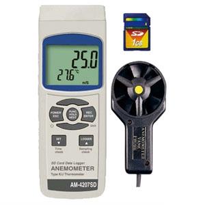 マザーツール デジタル風速計 SDカードデータロガ ベーン式 SDカード(4GB)付 AM-4207SD