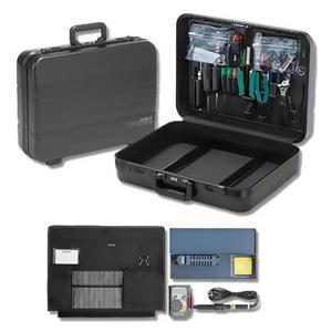エンジニア アタッシュ工具セット 26点セット L465×W345×H129mm 仕切枠・ダイヤルロック付 KS-12
