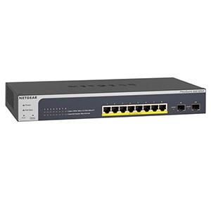ネットギア スマートスイッチ 1000BASE-T 8ポート SFP 2スロット PoE+(30W) レイヤー2+ ラックマウントキット付 GS510TLP-100AJS