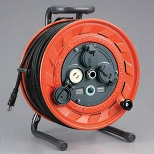 ハタヤ AP型コードリール 100Vタイプ 標準型 2P 15A 125V 抜止め型 コンセント3個 長さ50m VCT2.0㎟×2C 温度センサー内蔵 AP-501