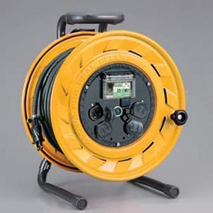 ハタヤ BR型コードリール 100Vタイプ 漏電遮断器付 2P 15A 125V コンセント4個 長さ30m VCT2.0㎟×2C 温度センサー内蔵 BS-301