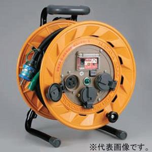 ハタヤ BR型コードリール 100Vタイプ 漏電遮断器付 2P 15A 125V 接地付 コンセント3個 長さ50m VCT2.0㎟×3C 温度センサー内蔵 BR-501KX