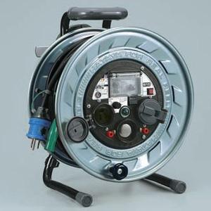 ハタヤ メタルセンサーリール 100Vタイプ 通信工事指定機種 2P 15A 125V 接地付 抜止め型 コンセント2個 長さ30m VCT2.0㎟×3C 金属感知・感度調整機能付 温度センサー内蔵 MSB-301KVL